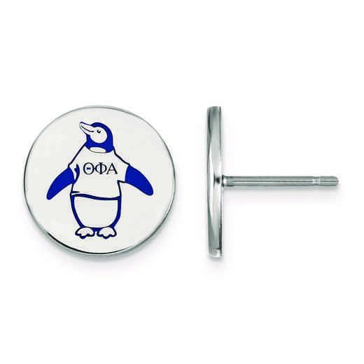 SS047TPA: Strlng Slvr LogoArt Theta Phi Alpha Enameled Post Earrings