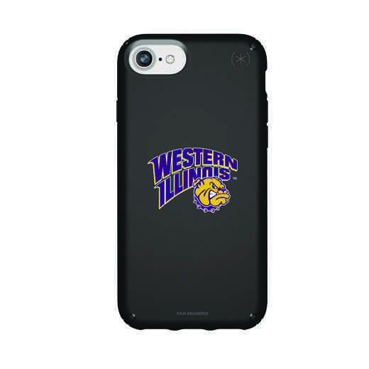 IPH-876-BK-PRE-WILU-D101: FB Western Illinois iPhone 8/7/6S/6 Presidio