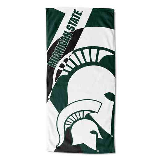 1COL722000031RET: Michigan State Puzzle Beach Towel