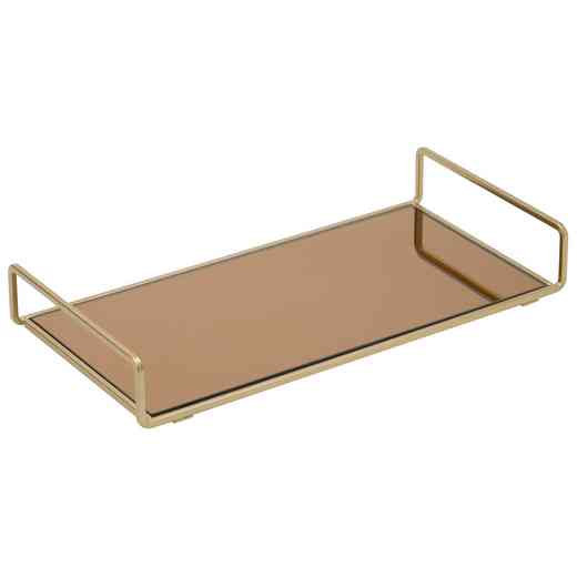 26425-SGOLD : KEN Classic Vanity Mirror Tray- Tinted Glass