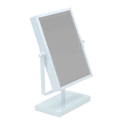 2775-WHITE : KEN 8IN MAGNIFICATION RECTANGLE VANITY MIRROR-3X - Wht