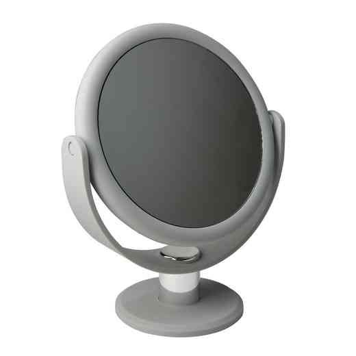 "26450-GREY : KEN 7"" Vanity Rubberized Mirror  1x-10x mag- Grey"