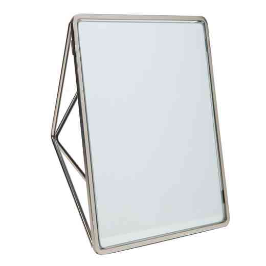 26428-SATIN : KEN Geometric Two Way Vanity Mirror- SATIN Chrome
