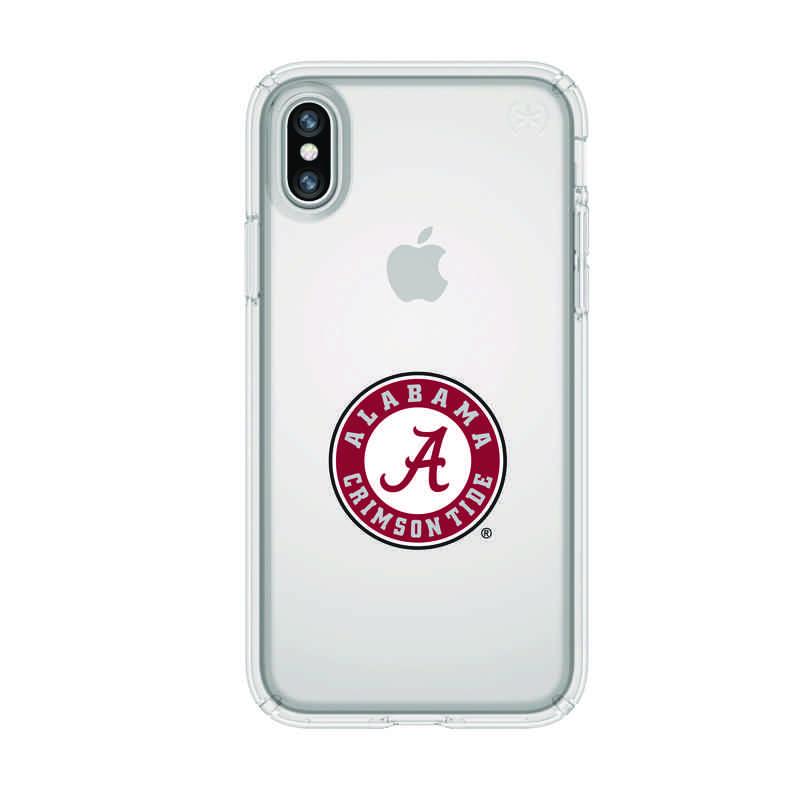 ab824c04850 Speck Clear Presidio Clear Case   Alabama Crimson Tide Primary ...