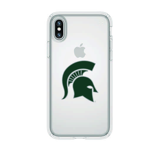 IPH-X-CL-PRE-MCS-D101: FB Michigan St iPhone X Presidio Clear