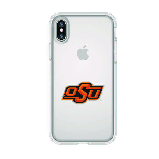 IPH-X-CL-PRE-OKS-D101: FB Oklahoma St iPhone X Presidio Clear