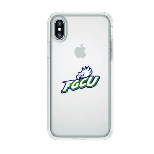 IPH-X-CL-PRE-FGCU-D101: FB Florida Gulf Coast iPhone X Presidio Clear