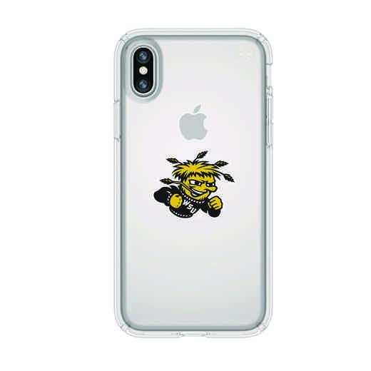 IPH-X-CL-PRE-WSU-D101: FB Wichita St iPhone X Presidio Clear