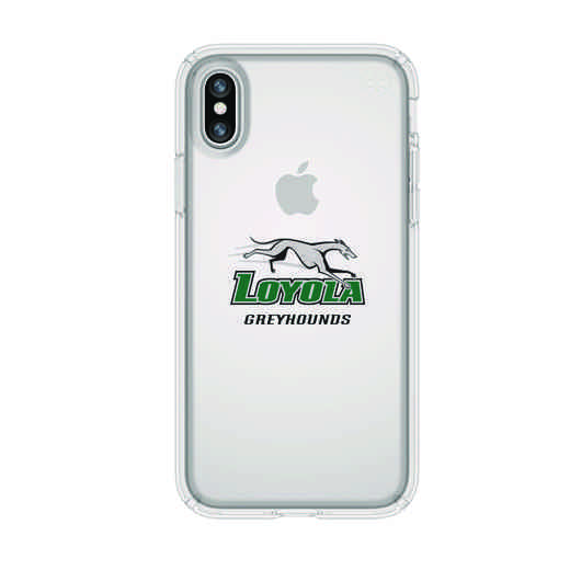 IPH-X-CL-PRE-LUM-D101: FB Loyola Univ Of Maryland iPhone X Presidio Clear