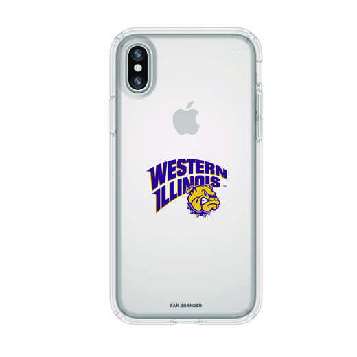 IPH-X-CL-PRE-WILU-D101: FB Western Illinois iPhone X Presidio Clear
