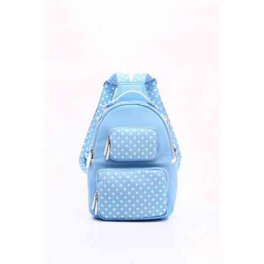 H160614-31-LTBLU-W  Natalie Michelle Medium -LTBLU-W · Women s Lite Blue   White  PU Waterproof Backpack ... 1c5e62853fb57