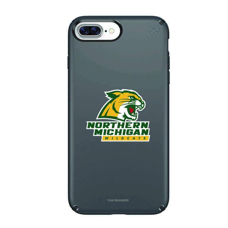 IPH-87P-BK-PRE-NOMU-D101: FB Northern Michigan iPhone 8 and iPhone 7 Plus Speck Presidio