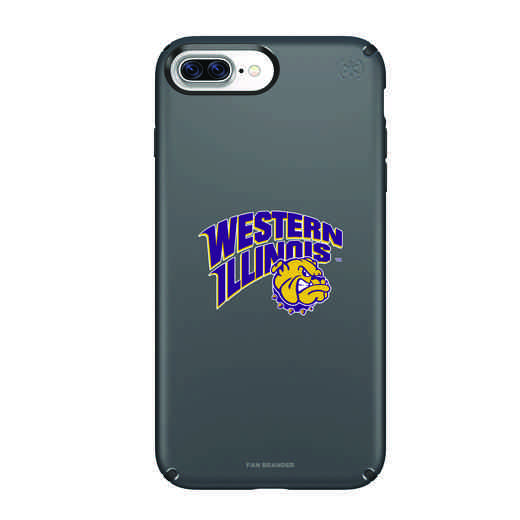 IPH-87P-BK-PRE-WILU-D101: FB Western Illinois iPhone 8 and iPhone 7 Plus Speck Presidio
