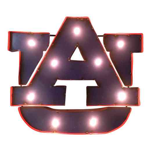 AUWDLGT: LRT Auburn AU Metal Décor Lighted