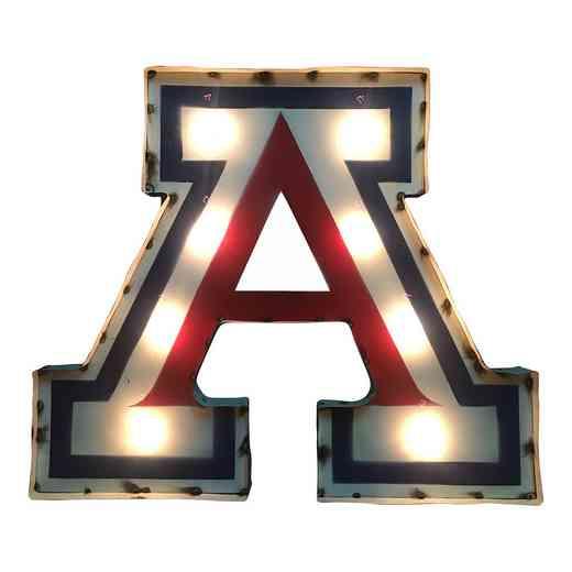 AZWDLGT: LRT U Arizona A Metal Décor Lighted