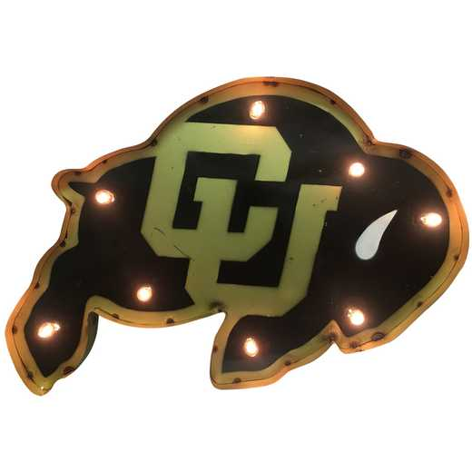 BUFFWDLGT: LRT Colorado Buffalo Metal Décor Lighted