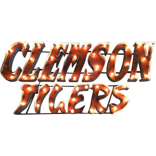 CLEMSONTIGERSWDLGT: LRT Clemson Tigers Stacked Metal Décor Lighted