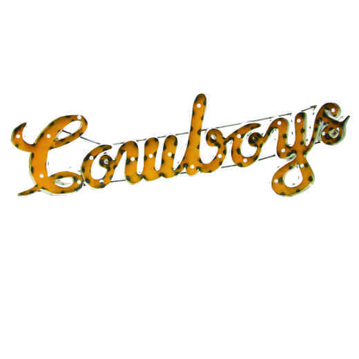 COWBOYSLWD: LRT Wyoming Cowboys Metal Décor