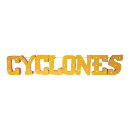 CYCLONESWDLGT: LRT Iowa St Cyclones Metal Décor Lighted
