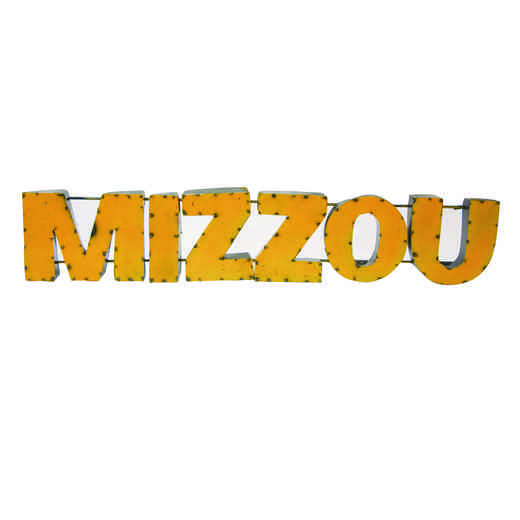 MIZZOUYLWD: LRT MO Mizzou Yellow Metal Décor