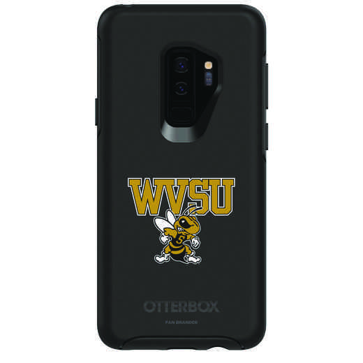 GAL-S9P-BK-SYM-WVSU-D101: FB West Virginia St OB SYMMETRY Case for Galaxy S9+