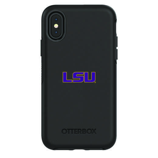 IPH-X-BK-SYM-LSU-D101: FB LSU iPhone X Symmetry Series Case