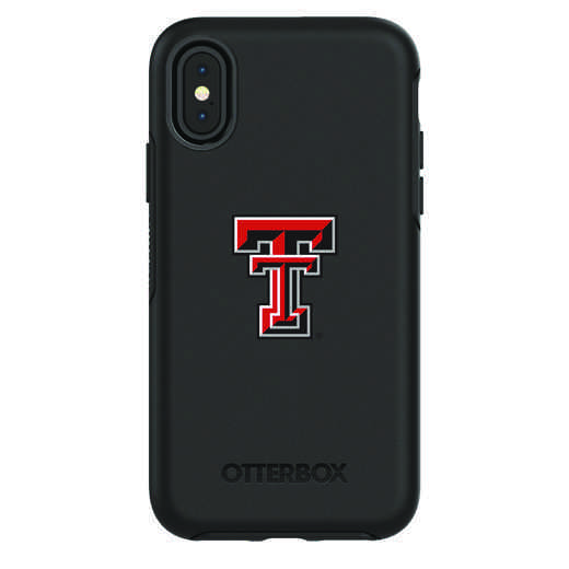 IPH-X-BK-SYM-TT-D101: FB Texas Tech iPhone X Symmetry Series Case