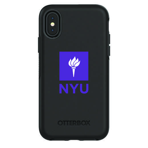 IPH-X-BK-SYM-NYU-D101: FB NYU iPhone X Symmetry Series Case