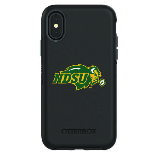 IPH-X-BK-SYM-NDSU-D101: FB North Dakota St iPhone X Symmetry Series Case