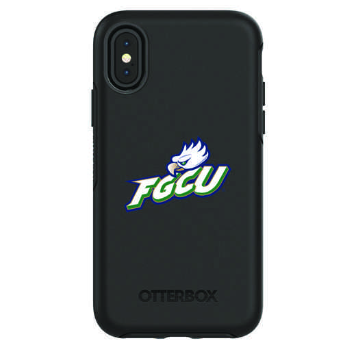 IPH-X-BK-SYM-FGCU-D101: FB Florida Gulf Coast iPhone X Symmetry Series Case