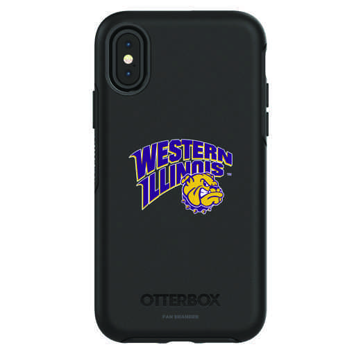 IPH-X-BK-SYM-WILU-D101: FB Western Illinois iPhone X Symmetry Series Case