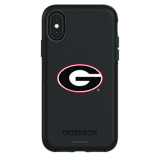 IPH-X-BK-SYM-UGA-D101: FB Georgia iPhone X Symmetry Series Case