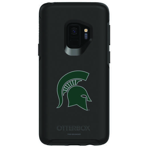 GAL-S9-BK-SYM-MCS-D101: FB Michigan St OB SYMMETRY Case for Galaxy S9