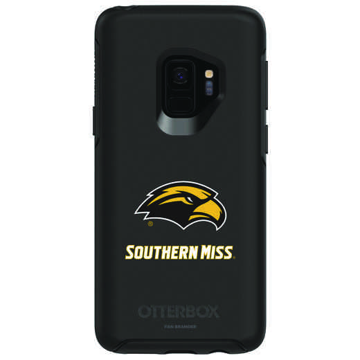 GAL-S9-BK-SYM-SOMI-D101: FB Southern Mississippi OB SYMMETRY Case for Galaxy S9
