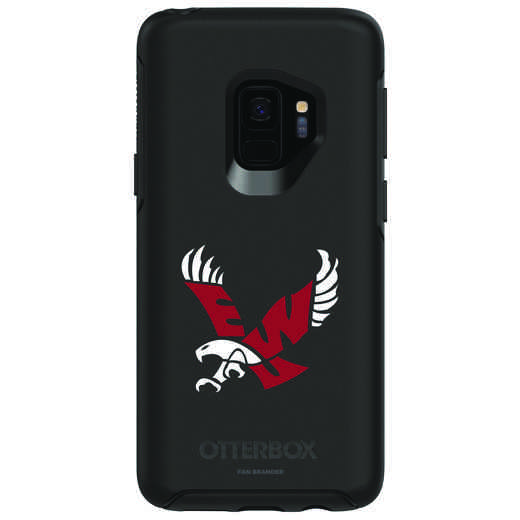 GAL-S9-BK-SYM-EWU-D101: FB Eastern Washington OB SYMMETRY Case for Galaxy S9
