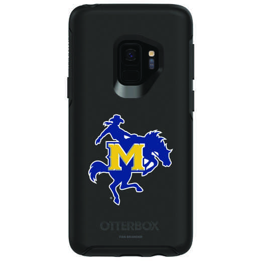 GAL-S9-BK-SYM-MNS-D101: FB McNeese St OB SYMMETRY Case for Galaxy S9