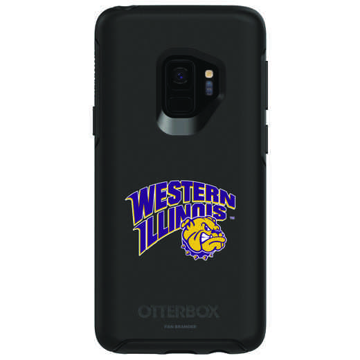 GAL-S9-BK-SYM-WILU-D101: FB Western Illinois OB SYMMETRY Case for Galaxy S9