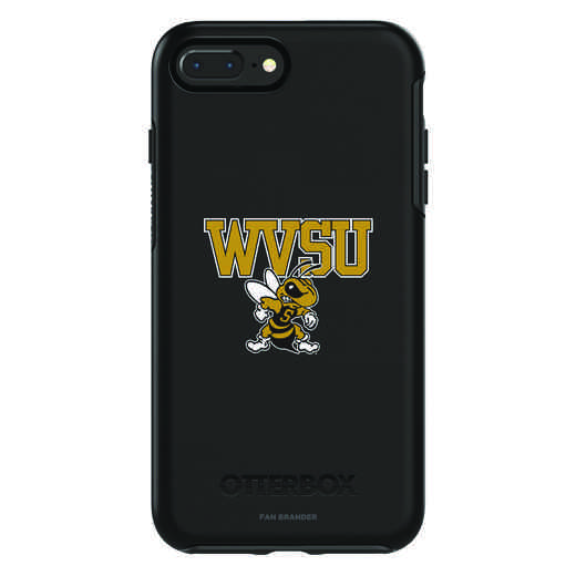 IPH-87P-BK-SYM-WVSU-D101: FB West Virginia St OB SYMMETRY IPN 8 PLUS AND IPN 7 PLUS