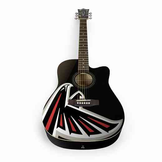 ACNFL02:  Atlanta Falcons Acoustic Guitar