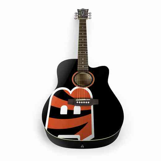 ACNFL07:  Cincinnati Bengals Acoustic Guitar