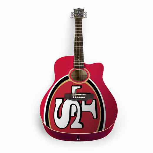 ACNFL28:  San Francisco 49ers Acoustic Guitar