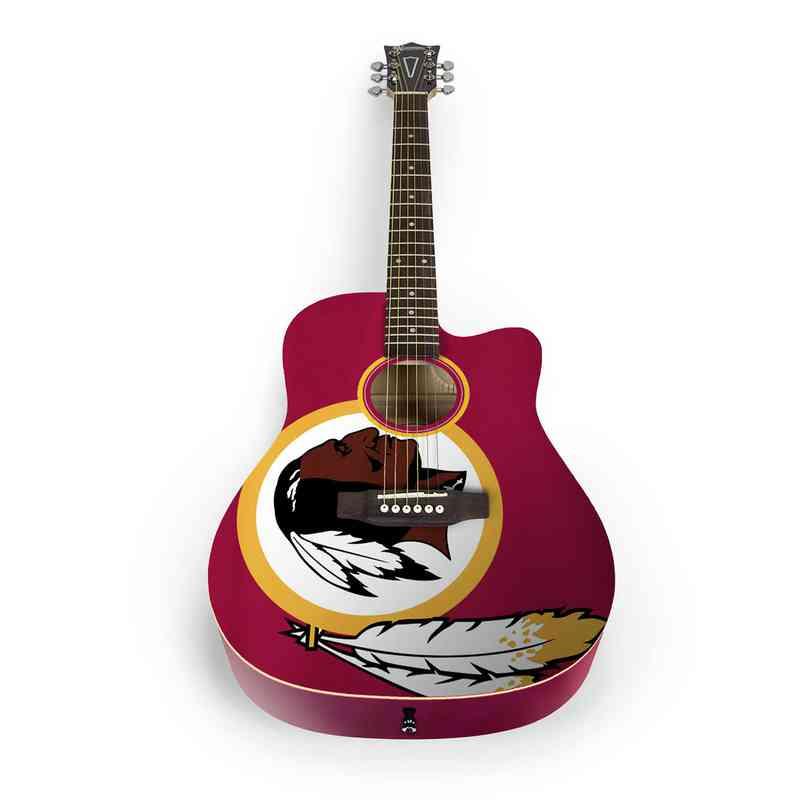 ACNFL32:  Washington Redskins Acoustic Guitar