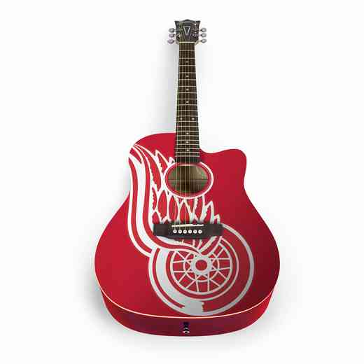 ACNHL11: Detroit Red Wings Acoustic Guitar