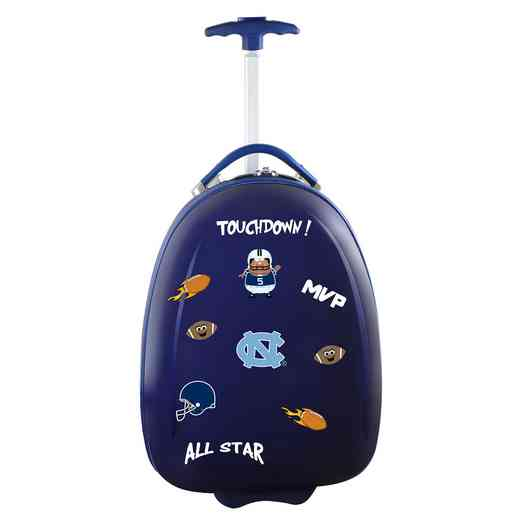 CLNCL601-NAVY: NCAA UNC Tar Heels Kids Luggage Navy