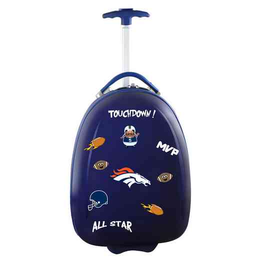 NFDBL601-NAVY: NFL Denver Broncos Kids Luggage Navy
