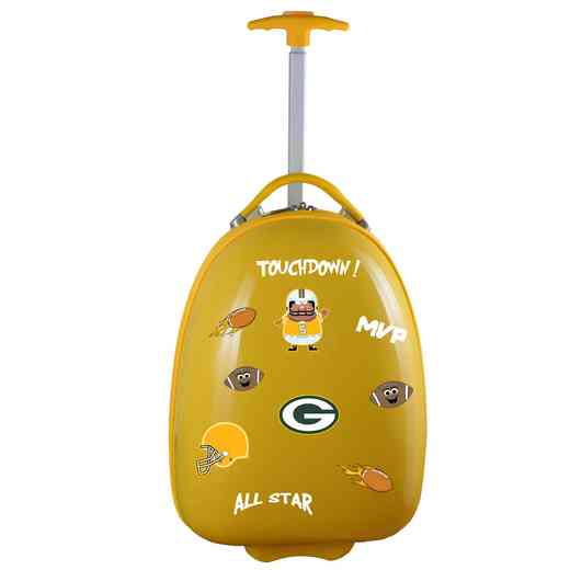 NFGPL601-YELLOW: NFL Green Bay Packers Kids Luggage Yellow