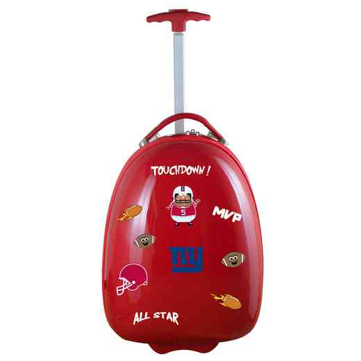 NFNGL601-RED: NFL New York Giants Kids Luggage Red