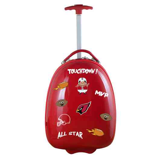 NFACL601-RED: NFL Arizona Cardinals Kids Luggage Red
