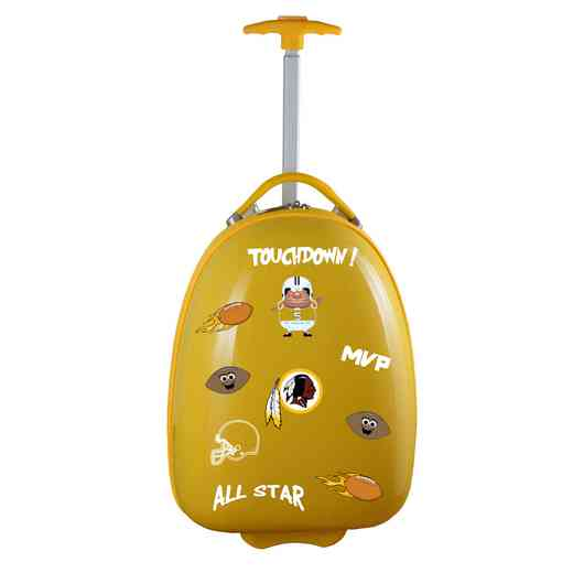 NFWRL601-YELLOW: NFL Washington  Redskins Kids Luggage Yellow
