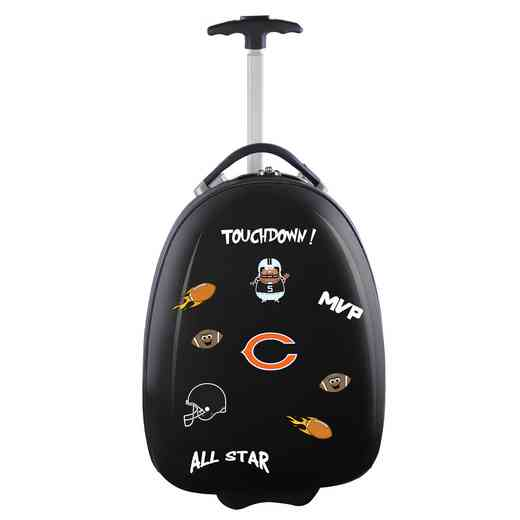 NFCHL601-BLACK: NFL Chicago Bears Kids Luggage Black